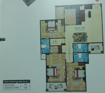 Gallery Cover Image of 1431 Sq.ft 3 BHK Apartment for buy in Deep Shree Suyog, Swami Vivekananda Nagar for 5200000