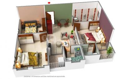 Gallery Cover Image of 850 Sq.ft 2 BHK Apartment for buy in Curiocity Classic, New Town for 4200000