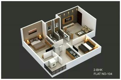Gallery Cover Image of 900 Sq.ft 2 BHK Apartment for buy in Sai Krupa, Lohegaon for 3000000