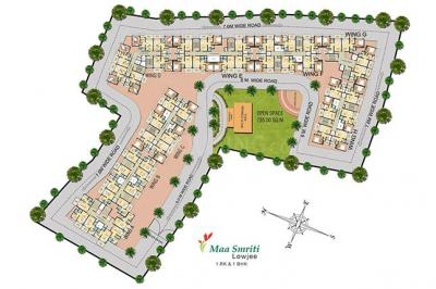 Gallery Cover Image of 950 Sq.ft 2 BHK Apartment for buy in Moraj Maa Smriti A To C And E To H, Anand Nagar for 3400000