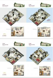 Gallery Cover Image of 1100 Sq.ft 2 BHK Apartment for buy in Alpine Square, Patancheru for 3600000