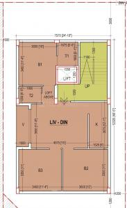 Gallery Cover Image of 1350 Sq.ft 3 BHK Apartment for buy in Jadavpur for 7425000