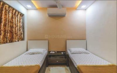 खिरकी एक्सटेंशन में दुष्यंत पीजी के बेडरूम की तस्वीर