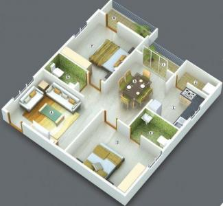 Gallery Cover Image of 1054 Sq.ft 2 BHK Apartment for buy in Jayani Paradise, Mahadevapura for 7333000