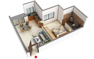 Floor Plan Image of PG For Either Girls Or Boys in Siruseri