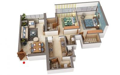 Gallery Cover Image of 1344 Sq.ft 2 BHK Apartment for rent in Sheth Beaumonte, Sion for 90000