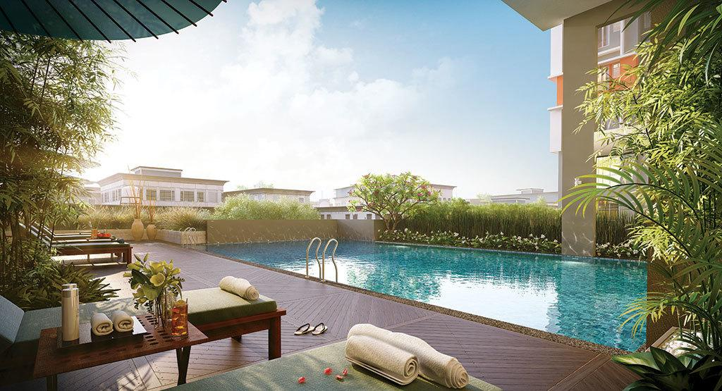Swimming Pool Image of 931 Sq.ft 2 BHK Apartment for buy in Tangra for 4561900