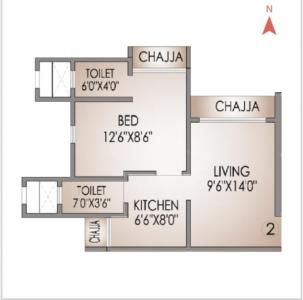 Gallery Cover Image of 490 Sq.ft 1 BHK Apartment for buy in Bhandup East for 9000000