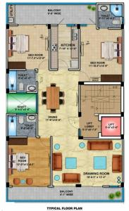 Gallery Cover Image of 2200 Sq.ft 3 BHK Independent Floor for buy in Unitech South City 1, Sector 41 for 18000000