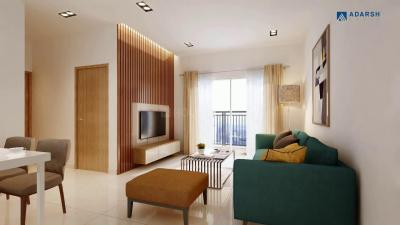 Gallery Cover Image of 650 Sq.ft 2 BHK Apartment for buy in Adarsh Greens Phase 1, Kogilu for 2790000