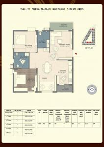 Gallery Cover Image of 1400 Sq.ft 2 BHK Apartment for buy in Ramky Golden Circle, Malikdanguda for 6018600