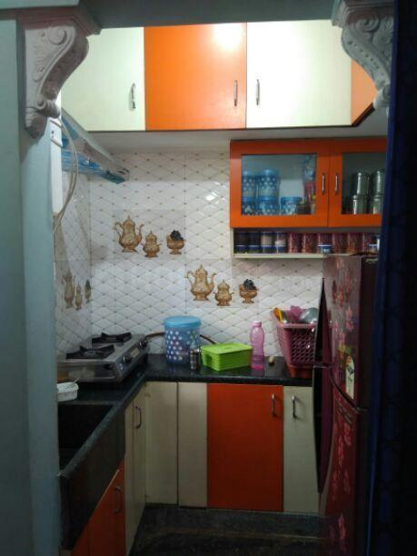 Kitchen Image of 600 Sq.ft 2 BHK Independent Floor for rent in Kamala Nagar for 13999