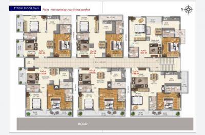 Gallery Cover Image of 935 Sq.ft 2 BHK Apartment for buy in Prudent One, Kyalasanahalli for 4327014