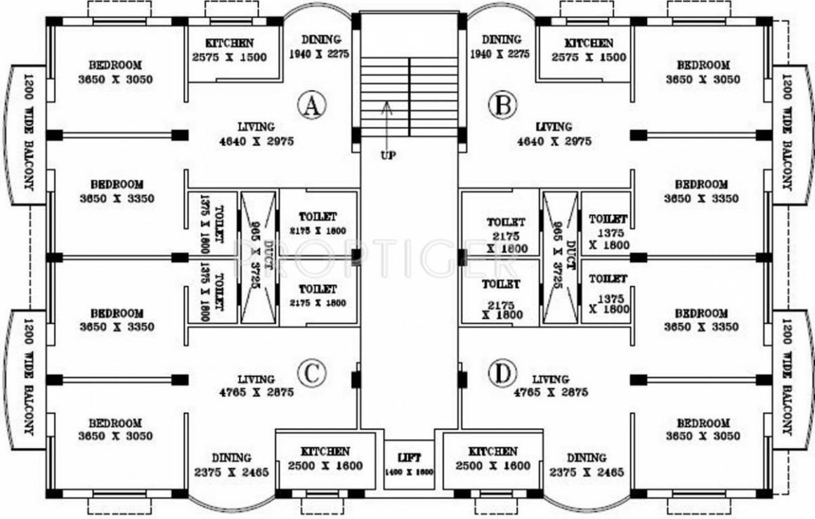 Floor Plan Image of 925 Sq.ft 1 BHK Apartment for buy in Arrah Kalinagar for 1480000