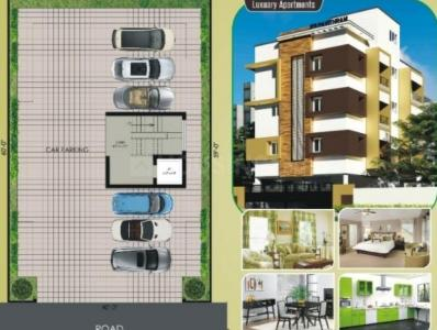 Gallery Cover Image of 834 Sq.ft 2 BHK Apartment for buy in Vadapalani for 8173112
