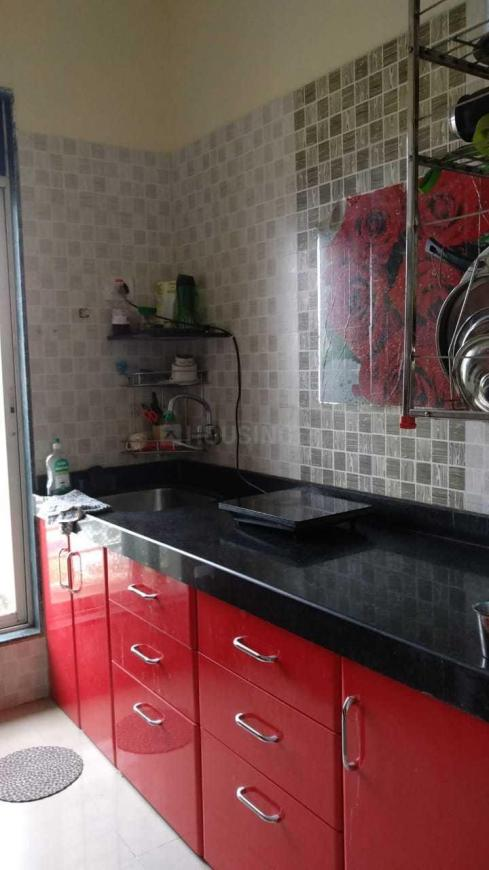 Kitchen Image of 600 Sq.ft 1 BHK Apartment for rent in Airoli for 21000