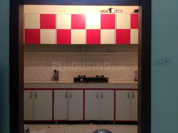 Kitchen Image of 560 Sq.ft 1 BHK Independent Floor for rent in CGHS Progressive Apartments, Sector 55 for 18000