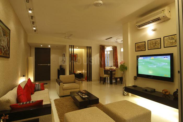 Living Room Image of 560 Sq.ft 1 BHK Apartment for rent in Thane West for 16500