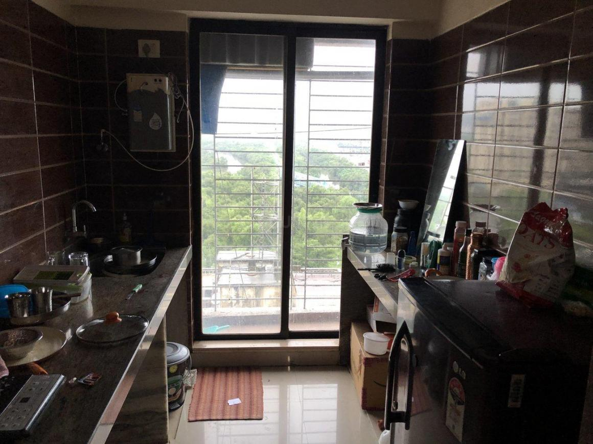 Kitchen Image of 700 Sq.ft 1 BHK Apartment for rent in Kamothe for 12000