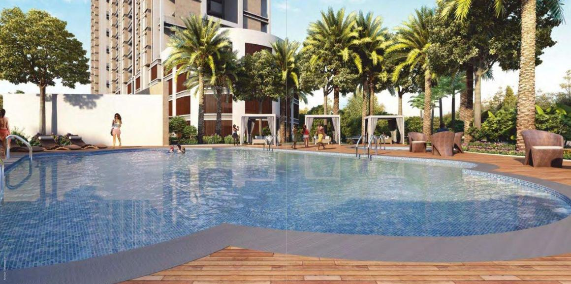 Swimming Pool Image of 1001 Sq.ft 2 BHK Apartment for buy in Mundhwa for 5200000
