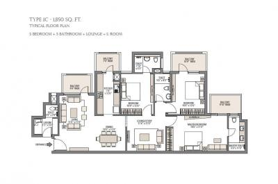 Gallery Cover Image of 1850 Sq.ft 3 BHK Independent Floor for buy in Emaar Palm Gardens, Sector 84 for 11500000