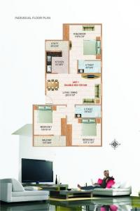 Gallery Cover Image of 1000 Sq.ft 2 BHK Apartment for buy in VR Residency, Marathahalli for 3800000