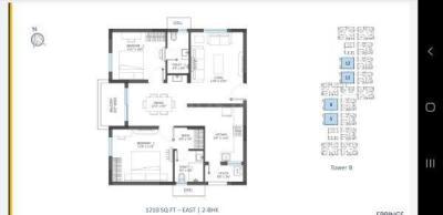Floor Plan Image of 1210 Sq.ft 2 BHK Apartment for buy in Pocharam for 5500000