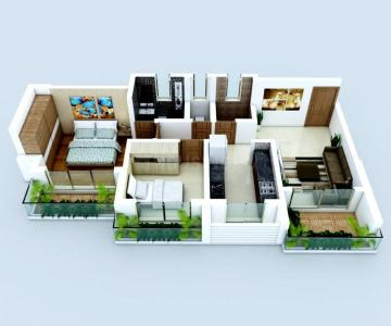 Gallery Cover Image of 945 Sq.ft 2 BHK Apartment for buy in Tetris Green Valley, Titwala for 3700000