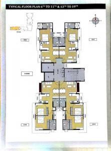 अशर मेपल, मुलुंड वेस्ट  में 14200000  खरीदें  के लिए 956 Sq.ft 2 BHK अपार्टमेंट के फ्लोर प्लान  की तस्वीर