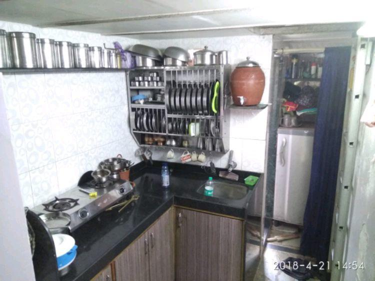 Kitchen Image of 180 Sq.ft 1 RK Independent Floor for rent in Girgaon for 20000