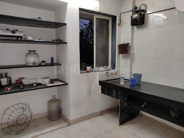 Kitchen Image of 585 Sq.ft 1 BHK Apartment for rent in Thane West for 21000