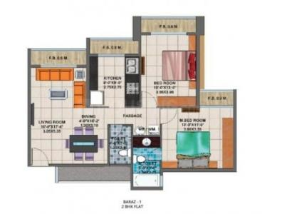 Gallery Cover Image of 920 Sq.ft 2 BHK Apartment for buy in Arihant Clan Aalishan Phase II, Kharghar for 9500000