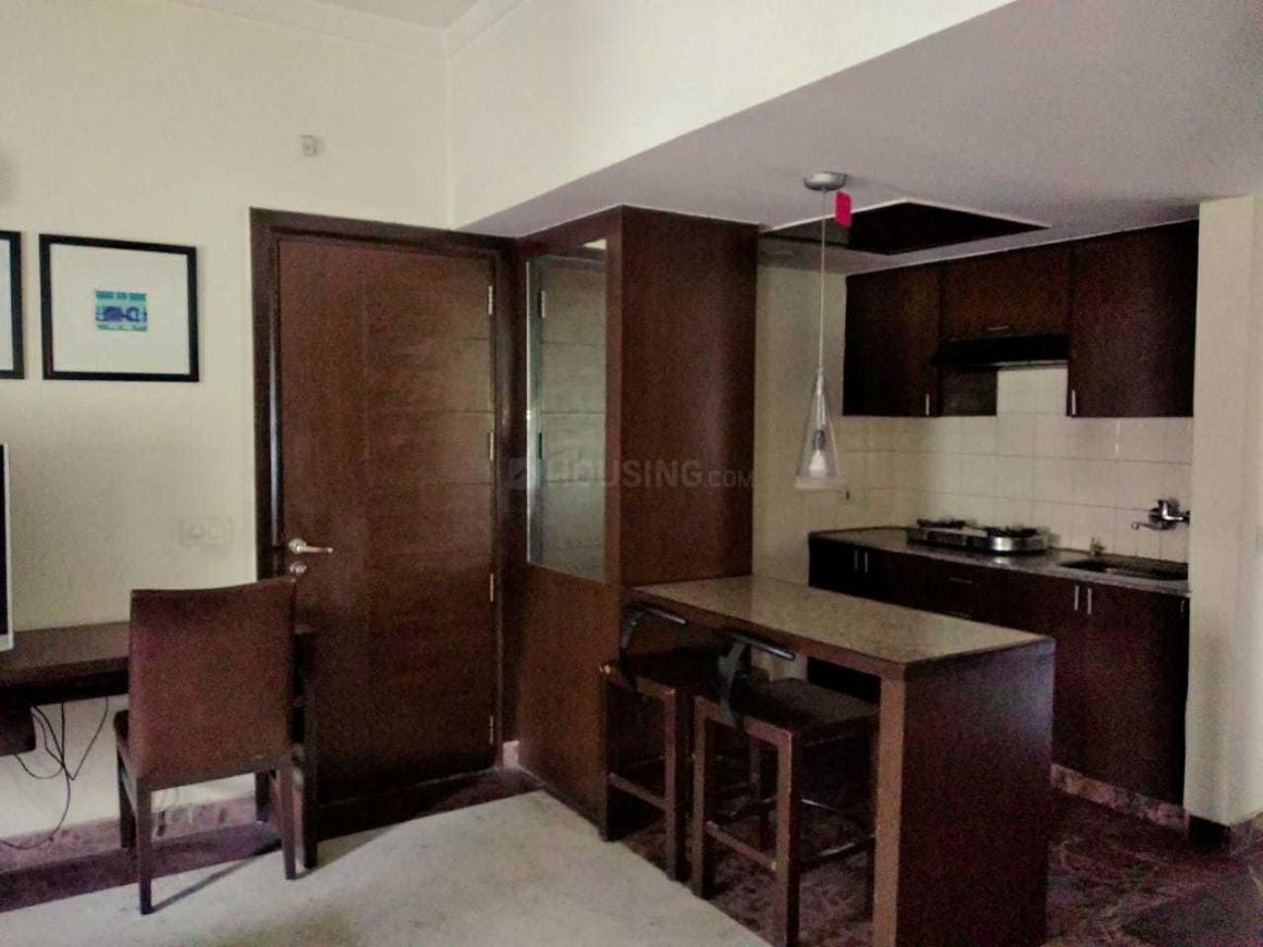Living Room Image of 750 Sq.ft 1 BHK Apartment for rent in Vaibhav Khand for 14000