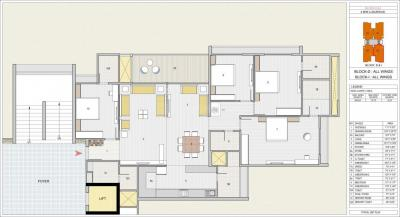 Gallery Cover Image of 1924 Sq.ft 3 BHK Apartment for buy in GSG Olive Greens, Gota for 6310720