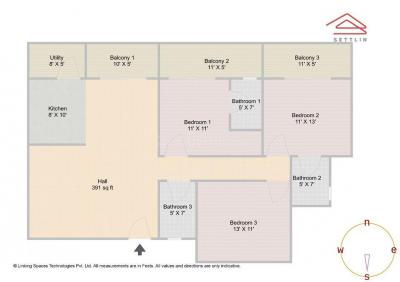 Gallery Cover Image of 1710 Sq.ft 3 BHK Apartment for buy in Imperial Solace Apartments, Bellandur for 6500000