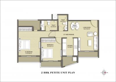 Gallery Cover Image of 1350 Sq.ft 3 BHK Apartment for buy in ANA Avant Garde Phase 1, Mira Road East for 17700000