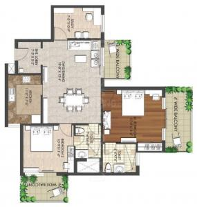 Gallery Cover Image of 1610 Sq.ft 2 BHK Apartment for rent in Spaze Privy AT4, Sector 84 for 12500