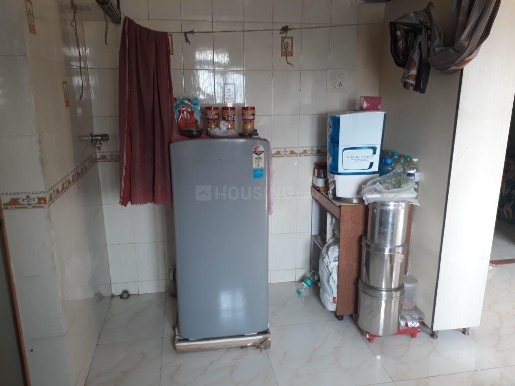 Kitchen Image of 480 Sq.ft 1 BHK Apartment for rent in Thane West for 13500