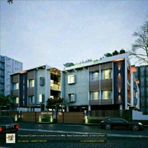 Gallery Cover Image of 1560 Sq.ft 3 BHK Apartment for buy in Vettuvankani for 11000000