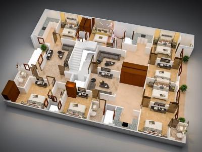 एसएसजी यश अपार्टमेंट 3, सेक्टर 8  में 6500000  खरीदें  के लिए 1200 Sq.ft 3 BHK इंडिपेंडेंट फ्लोर  के फ्लोर प्लान  की तस्वीर