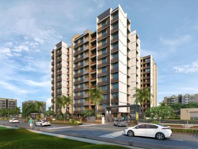 Gallery Cover Image of 1512 Sq.ft 3 BHK Apartment for rent in Panchamrut Green, Shilaj for 19000
