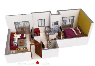 Gallery Cover Image of 600 Sq.ft 1 BHK Apartment for buy in Asaya Aurous, Kopar Khairane for 9500000