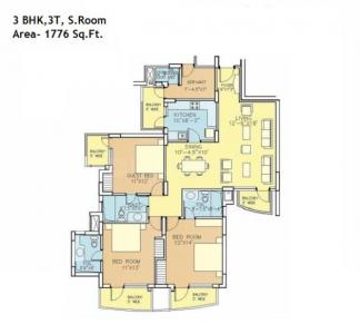 Gallery Cover Image of 1776 Sq.ft 3 BHK Apartment for rent in Bestech Park View City 1, Sector 48 for 35000