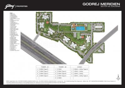 Gallery Cover Image of 2002 Sq.ft 3 BHK Apartment for buy in Godrej Meridien, Sector 106 for 21600000