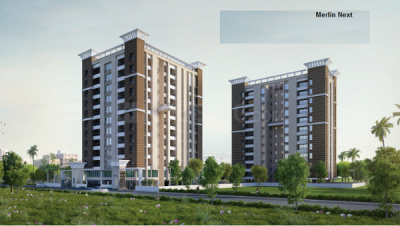 Gallery Cover Image of 624 Sq.ft 2 BHK Apartment for buy in Merlin Next, Behala for 3692000
