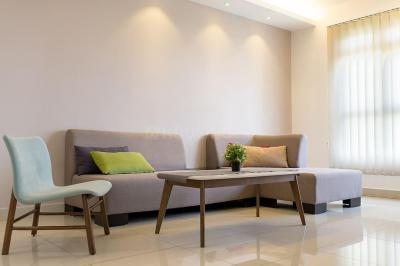 Hall Image of 650 Sq.ft 1 BHK Apartment for buy in Sheth Auris Ilaria, Malad West for 9500000