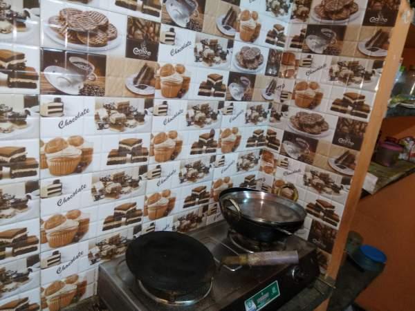 साल्ट लेक सिटी में सहा पीजी के किचन की तस्वीर