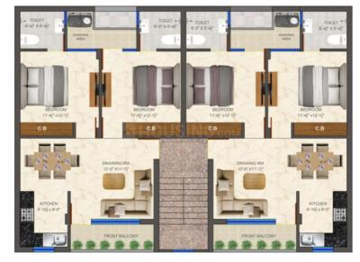 Gallery Cover Image of 850 Sq.ft 2 BHK Apartment for buy in Dhakoli for 3100000