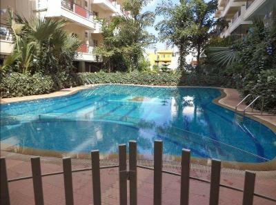 Swimming Pool Image of Mahaveer Tuscan Apartments in Krishnarajapura