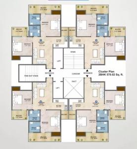 Gallery Cover Image of 1020 Sq.ft 2 BHK Apartment for buy in Adore Samriddhi, Sector 89 for 2330000
